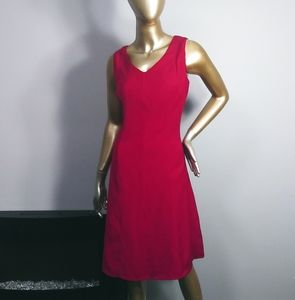 Jones New York red fit and flare dress